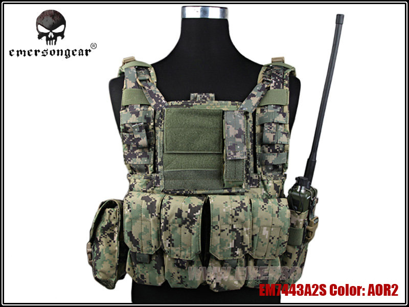 Emerson RRV Tactical Vest with Pouches Set Military Army Combat Gear for Hunting Paintball Chest Protective Vest EM7443 AOR2 ^