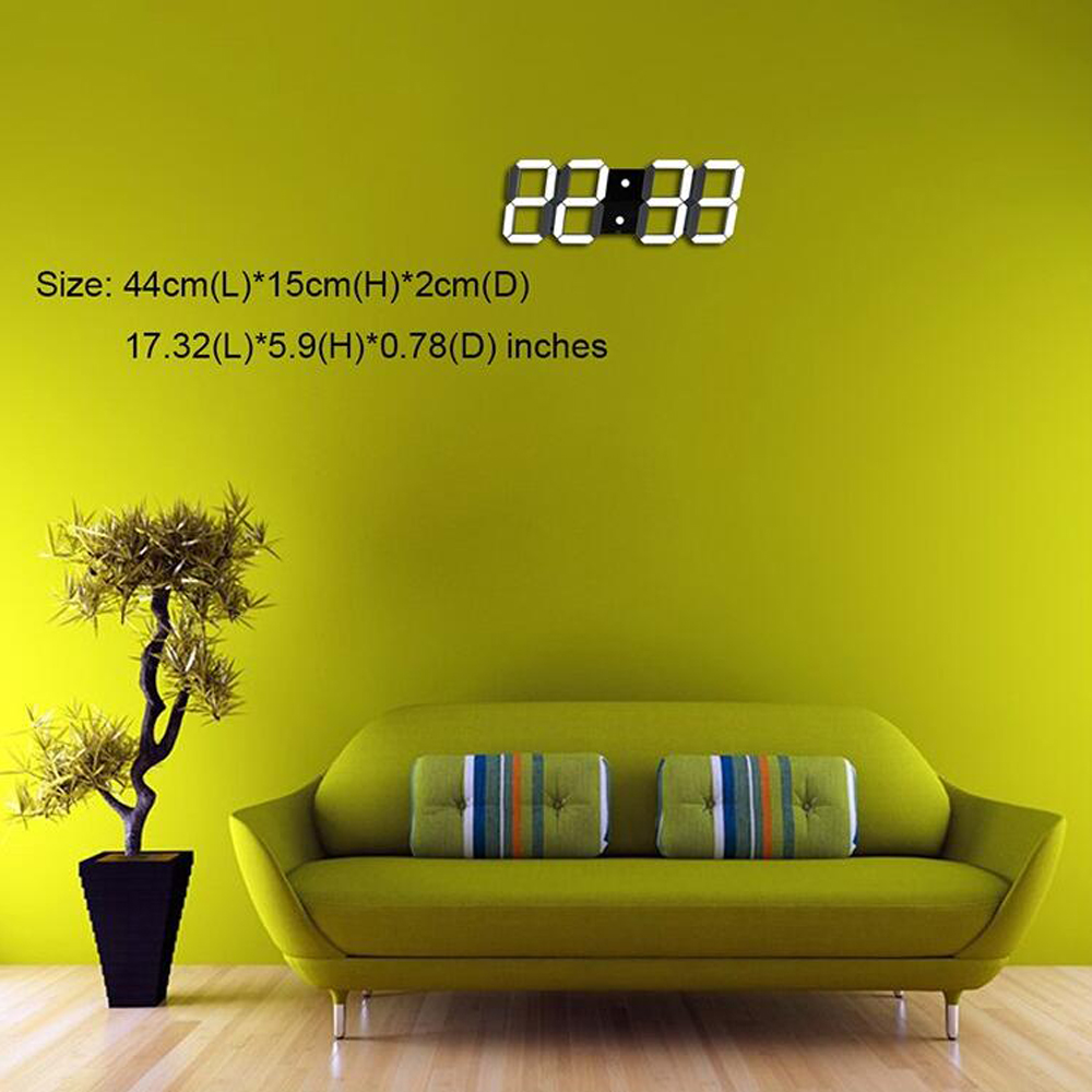 Creative Remote Control Large LED Digital Wall Clock Modern Design ...