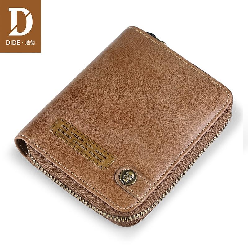 DIDE high quality Wallet for Men Leather Genuine Men's Vintage Business Card Holder Coin Purse Mens Luxury Wallet Male джемпер morgan morgan mo012ewzil81