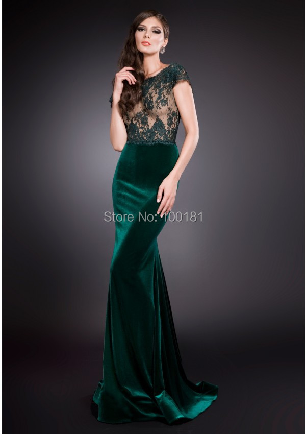 Robe de soiree en velours