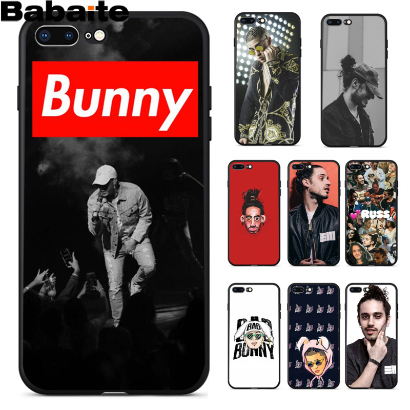 Babaite Bad Bunny Russ Diemon Ultrathin Novelty Fundas Phone Case Cover for Apple iPhone 8 7 6 6S Plus X XS MAX 5 5S SE XR
