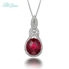 L & zuan 7.98ct ruby pendentif Rouge pierres précieuses en argent sterling bijoux collier et pendentif pour les femmes(China (Mainland))