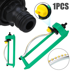 Image 1 - 18Jets Oscillating Lawn Water Sprinkler Watering Garden Pipe Hose Water Flow