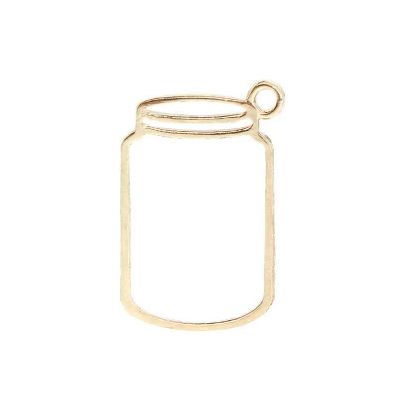 Metal Frame DIY Epoxy Resin Accessories Floral Footprint Pond Creative Jewelry Necklace Pendant Supplies Gifts Crafts