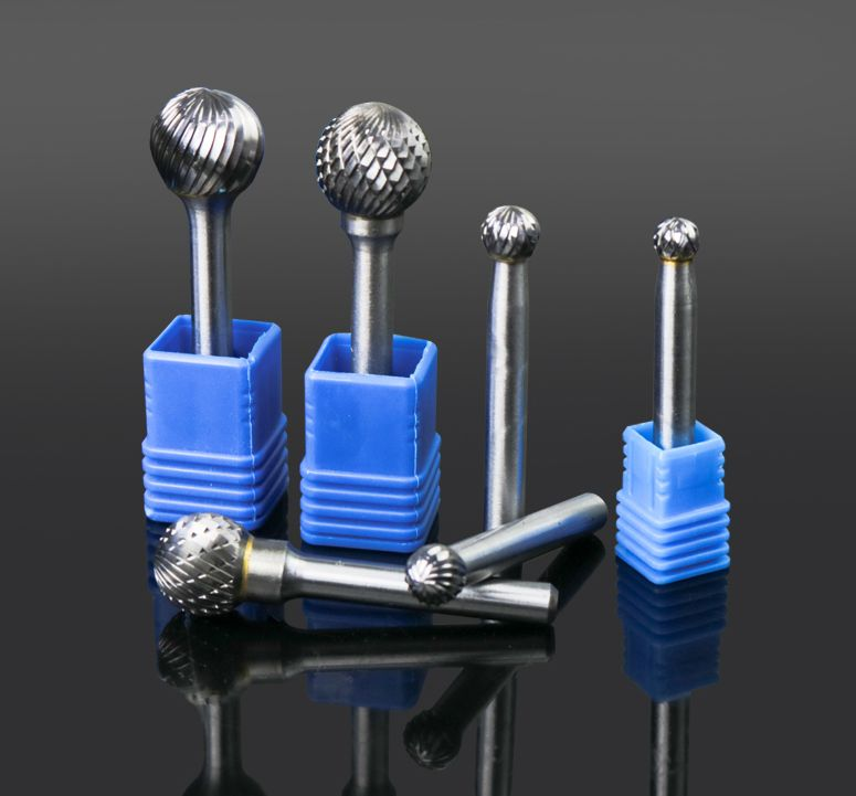 6-16mm Tungsten Steel Rotary Burrs Ball Head Metal TC Cutters Hard Alloy Eotary File End Mill Grinding Head Milling Cutter 7 in 1 high speed steel milling cutters rotary file polishing wire brush set silver