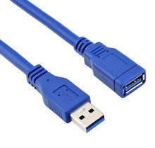 High speed USB3.0 A Male to female extension cable 1.0m 1.5m 1.8m  2m Blue color