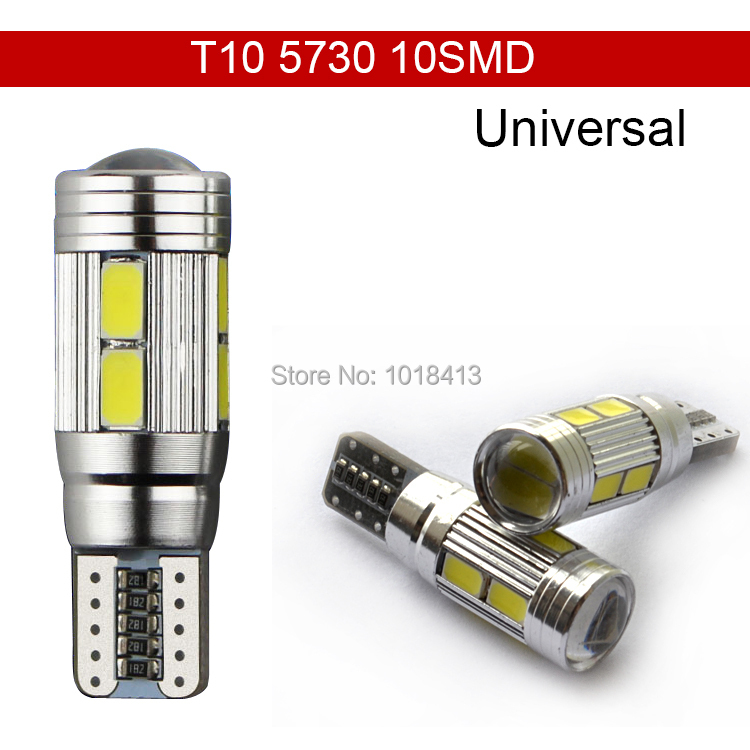 Car Auto LED T10 194 W5W Canbus 10 SMD 5630 5730 LED Light Bulb No error led  parking Fog light  Auto No Error univera car light 2pcs t10 canbus led car light 6smd 5630 auto no error free 12v w5w 194 168 bulb stopturn signal interior parking light