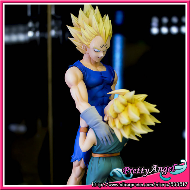 Original BANPRESTO DRAMATIC SHOWCASE 4th season vol.1 & 2 Dragon Ball Z Toy Figures - Super Saiyan Vegeta & Trunks showcase presents superman team ups volume 2