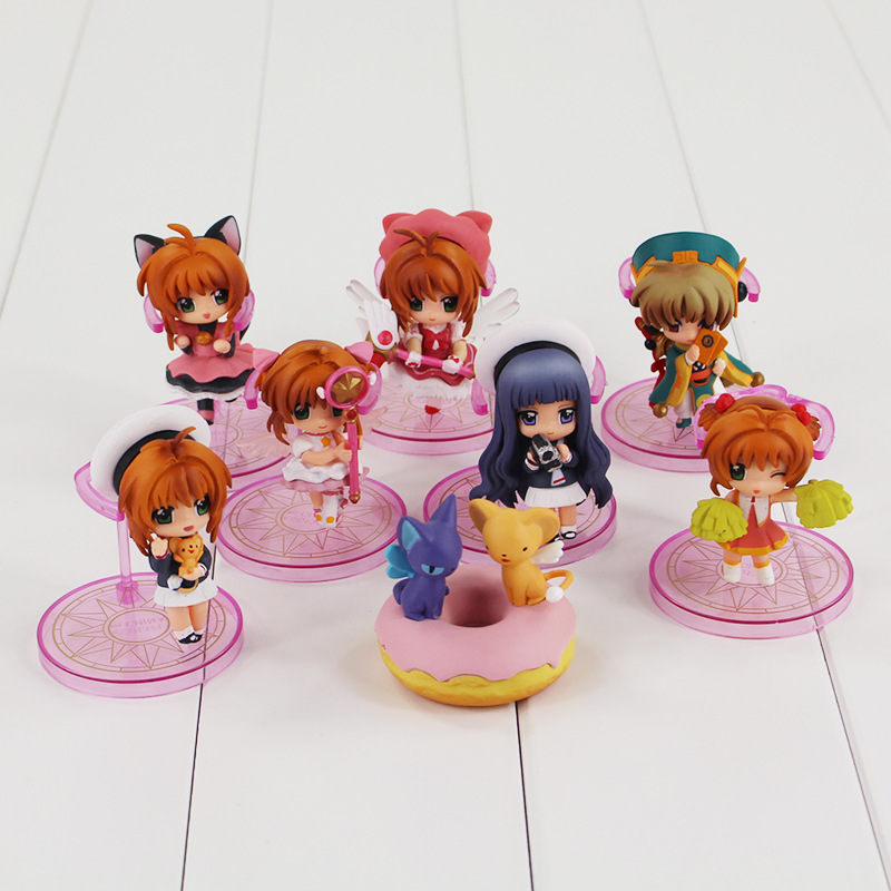 Anime Card Captor Cardcaptor Sakura Kinomotosakura Action Figure Toy Doll For Birthday Christmas Gifts Novelty & Special Use Costume Props