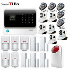 SmartYIBA SMS Call App Alert Android IOS Control Security Alarm Wifi Cameras Strobe Siren Burglar Door