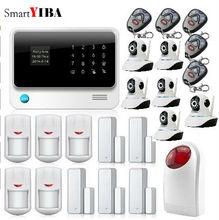 SmartYIBA SMS Call App Alert Android IOS Control Security Alarm Wifi Cameras Strobe Siren Burglar Door Open Reminder Alarm