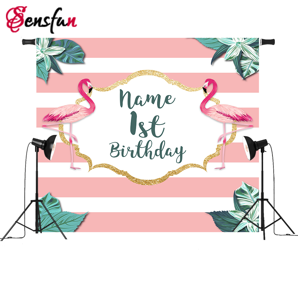 Vinyl Cloth photography Background for Photo Studio Flamingo Pink theme Birthday Party Leaves Girl Backdrop New Photobooth 150x90cm pink valentine s day vinyl studio backdrop love theme photography background cloth photo props wedding party favor