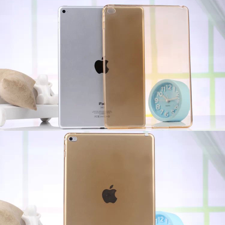 Gold colos soft Transparent TPU Back Case Cover Silicone For Apple iPad Air 2 9.7inch Protective Shell Skin Tablet M2C42D tpu tablet back cover case for ipad air 2