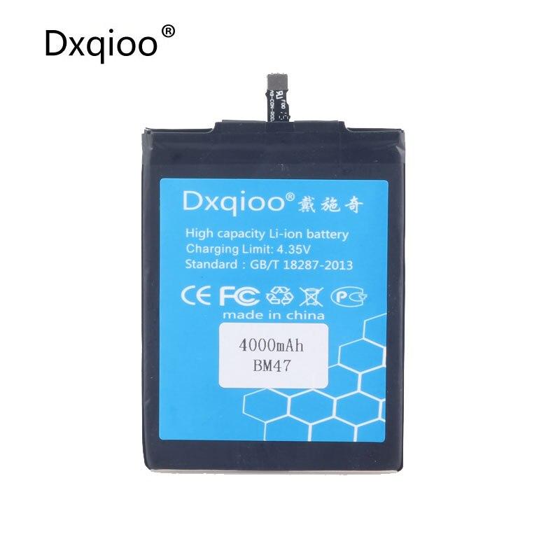 Dxqioo BM47 4000 mah bateria apto para xiaomi redmi 3 s redmi 4x baterias BM47
