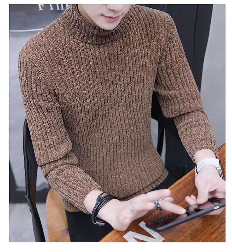 Men's Sweater Velvet Sweater Men's Day Retro Sweater