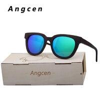 Angcen New Hot fashion Men Women brand designer Glasses Bamboo Sunglasses Vintage Wood Handmade Frame Polarized Eyewear