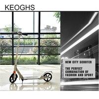 Новая модель для взрослых и детей kick Скутер Складной PU 2 колеса Бодибилдинг из алюминия амортизацией городской кампус транспорт