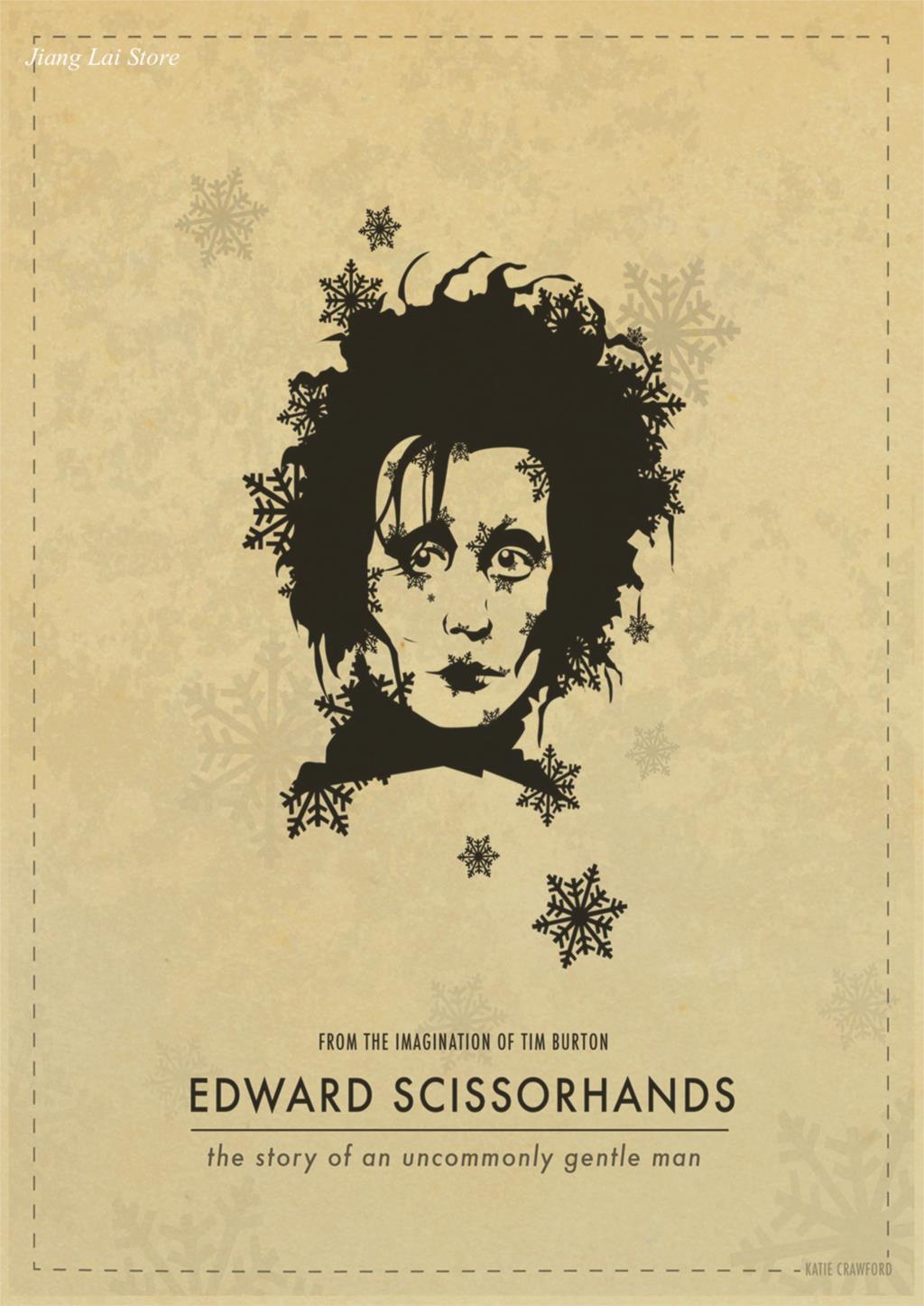 Tim Burton movies Beetlejuice Edward Scissorhands Poster Home Decor ...