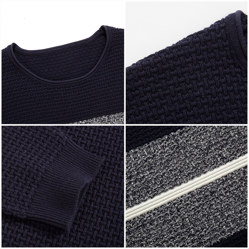 Image 5 - Pioneer Camp casual striped sweater men brand clothing Pullover  men fashion Designer sweaters for men 611201mens knitwearmens knitwear  fashiondesigner mens knitwear