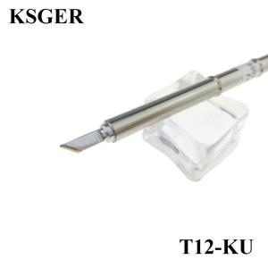 KSGER T12 Electronic Soldering Tips 220v T12-KU Series Iron Solder Tip Welding Tools Fx-951 Soldering Station 70W 200c-450c(China)