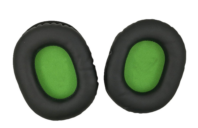 1 Pair Black With Green Replacement Ear Pads Cushion Cover For Turtle Beach Force Xo7 Recon