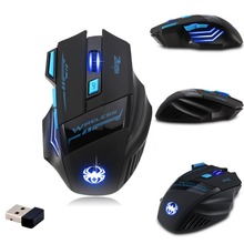 Super Hot Zelotes F14LED Wireless Mouse Gamer Game Mouse Optical 2400DPI 2.4G Computer Mouse ECHTPower Nighthawk 7D Gaming Mice