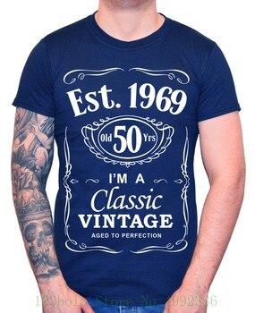 футболка Uomo 50 Compleanno Est 1969 винтажный Da Cinquantesimo 50 Anni Regalo 2019 модный мальчик