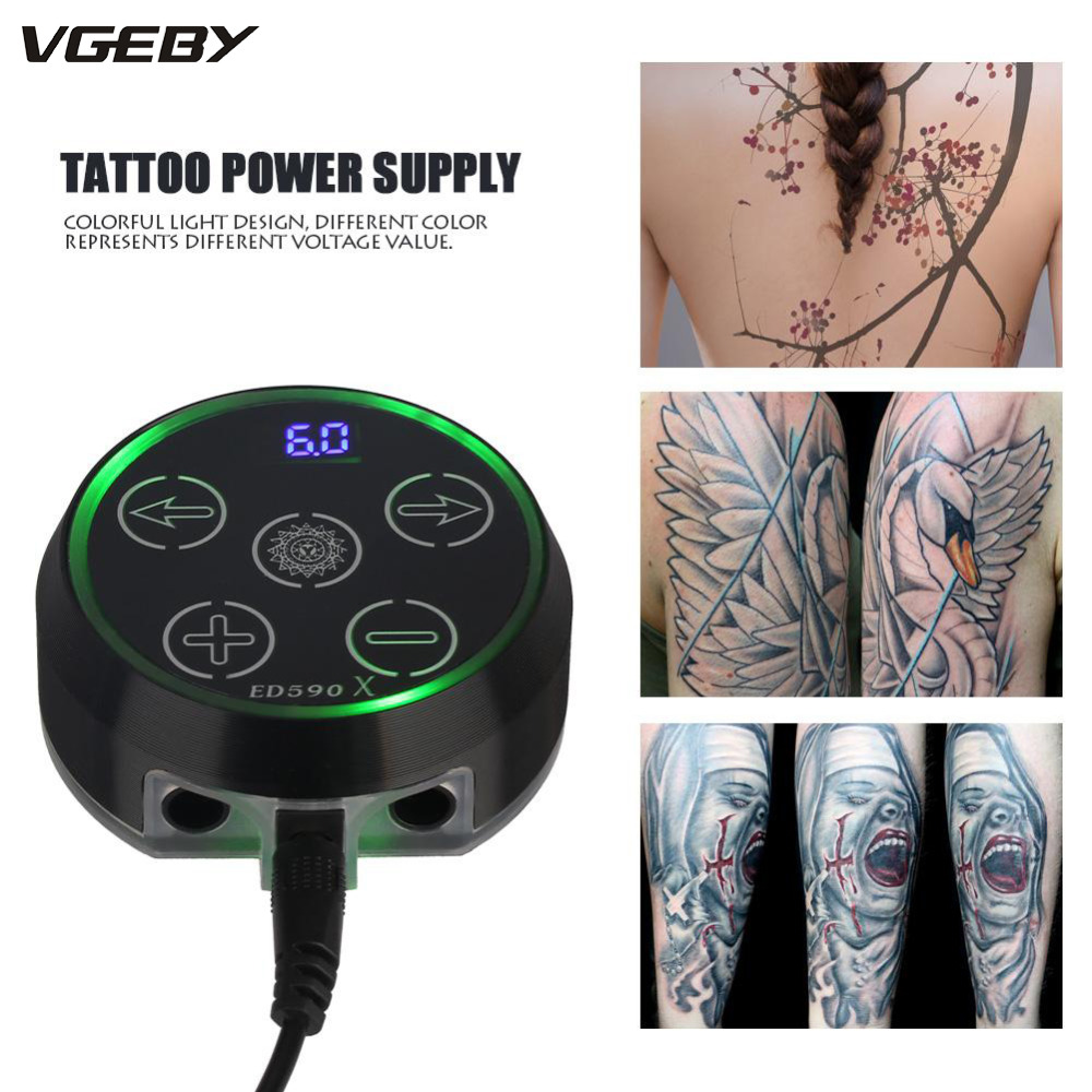 Mini Colorful Touch-screen Tattoo Power Supply with Power Adaptor for Coil & Rotary Tattoos Machine Tattoo Supplies microblading 10 pcs high quality led screen mini tattoo power supply mini power supply tattoo power tattoo ink kit supplies