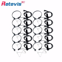 10X Throat MIC Earpiece Covert Acoustic Tube Headset Noise Reduction For Kenwood Retevis RT5R H777 Baofeng UV5R Bf-888S RU Stock