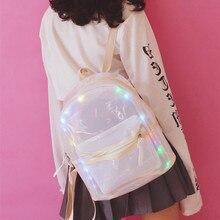 Новые мини Водонепроницаемый Свет Прозрачный Рюкзак Путешествия Мода Женщины Девушки Дамы ПВХ Bookbag школьные сумки для подростков