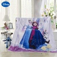דיסני קריקטורה קפוא אלזה ואנה יחיד כיסוי המיטה בגודל קווין מלא תאום שמיכת שמיכות קיץ מודפס רך ילדה צבע סגולה