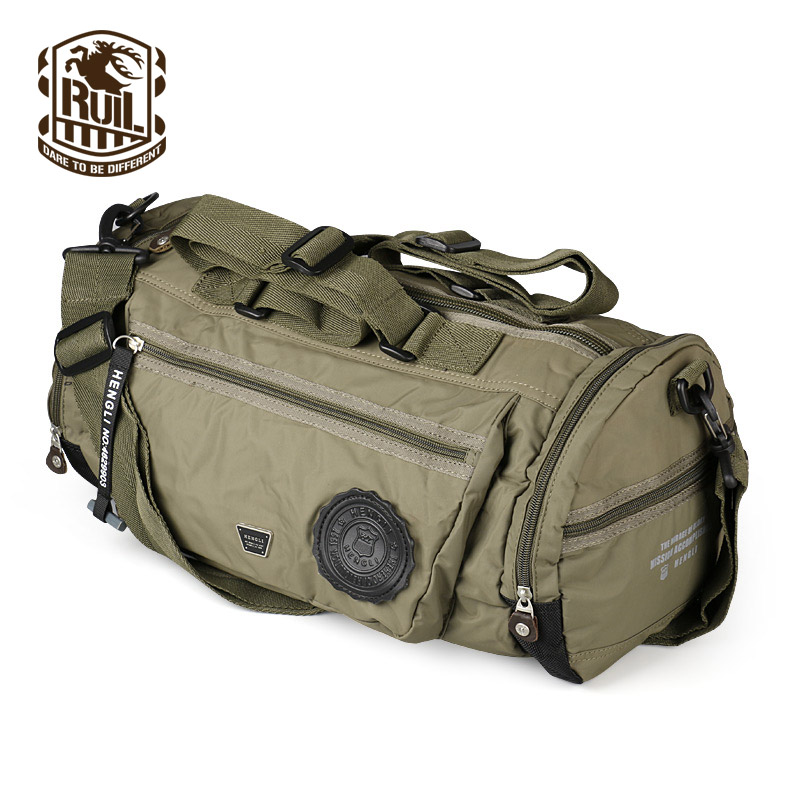 Ruil Men s Travel Bag Folding Oxford cloth Bag protects women s portable waterproof leisure travel