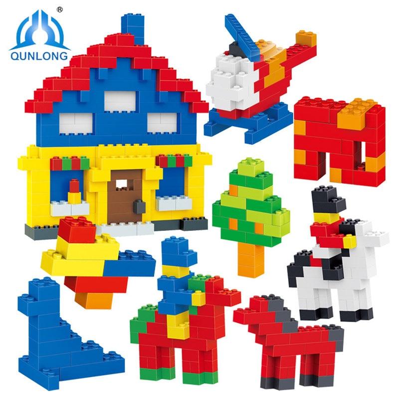 Qunlong 1000Pcs DIY City Creative Building Blocks Bricks Compatible With LegoINGly Bricks Educational font b Toys