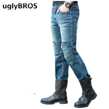 Casual loose men's jeans UGLYBROS SHOVEL UBS04 jeans motorcycle pants outdoor moto riding protective pants racing pants