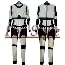 Latex racing suit rubber latex uniform for women