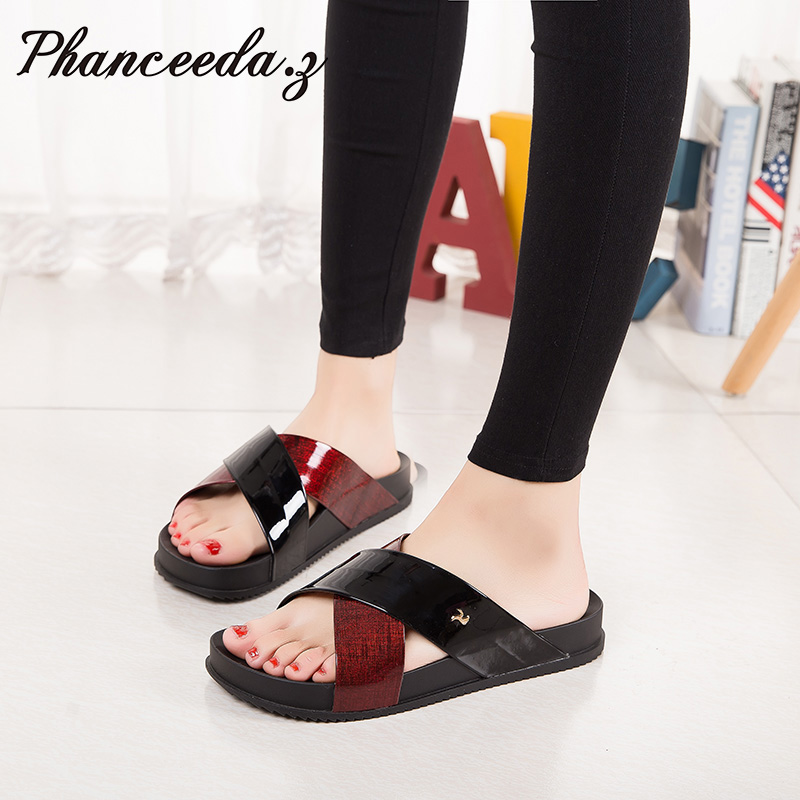 2017 Shoes Women Sandals Flip Flops Sexy Open Toe Slides Female Fashion Platform Comfortable Sandal Sweet Slippers Jelly Shoes 2017 shoes women sandals flip flops sexy open toe slides female fashion platform comfortable sandal sweet slippers jelly shoes
