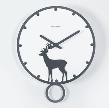 Nordic Modern Design Wall Clock Wood Silent Watch Mechanism Secret Stash Living Room Clock Digital Relogio Parede Wall WZH743