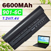 7800mAh Black Laptop Battery For ASUS Eee PC 1000 1000H 1000HA 1000HD 1000HE 1000HG 901 904HD