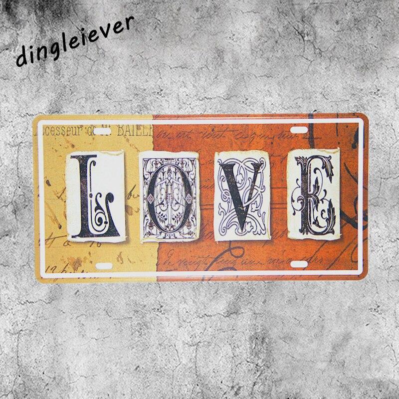 Любовь Вам письмо номерных знаков старинные металлические роспись стены картинки для гос ...