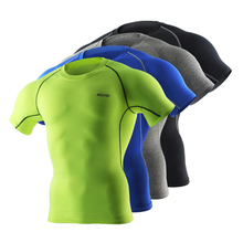 Cycling Base Layer Men Quick Dry Sports Compression Underwear Short Sleeve Ropa
