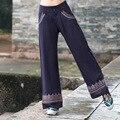New Women Street Style Casual Wide Leg Pant Vintage Elegant Loose Long Trousers Leisure Zipper Waist Sashes Pants Autumn