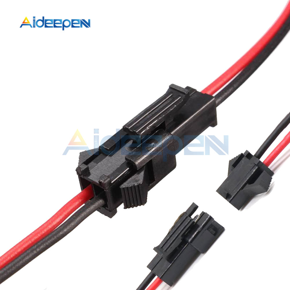 5 Pairs 10 Pairs 10CM/15CM/30CM 3mm Long JST SM 2Pins Plug Male To Female Wire Connector For LED Strip Light Lamp Driver