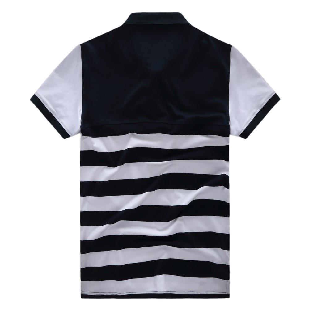 Normen Mens Fashion Striped Polo Shirts Short Sleeve Turn Dwon