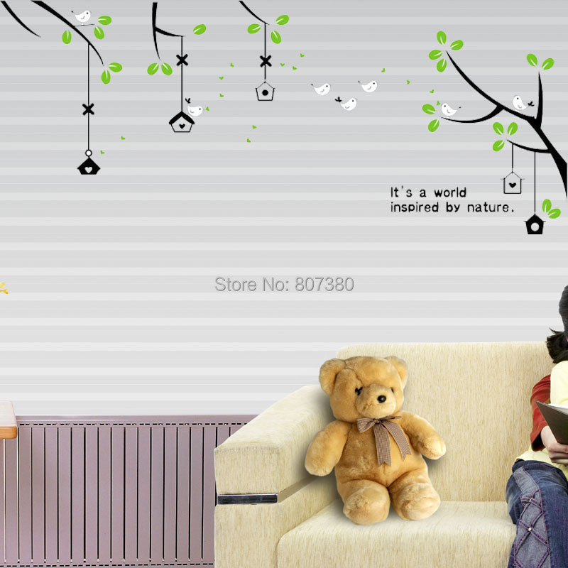 Tree Birdcage Removable Wall Decal Home Decoration Stickers Houseware - Rose-Jewelry store