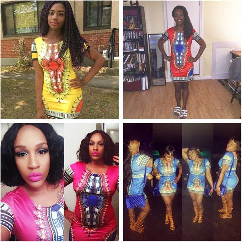 a2c5a945c27 2019 Summer Dress Women Plus Size African Dresses For Women Dashiki Short  Sleeve Print Mini Sheath Bandage Dress S 3XL D28 F77-in Dresses from Women s  ...