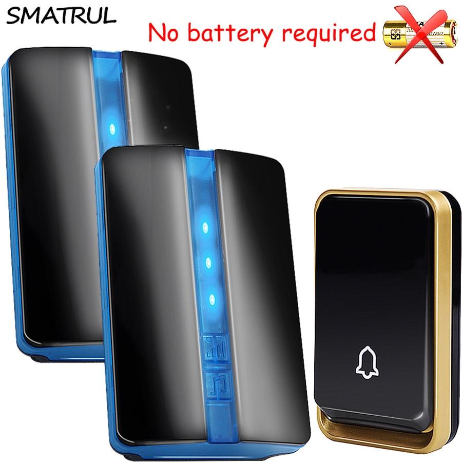 Smatrul Self Powered Waterproof Wireless Doorbell No