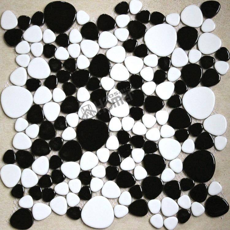 Pavimento Bianco E Nero Marmo Bianco E Nero Rombo