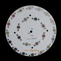 Qualità eccellente 24 w led piastra di base in alluminio, 24x1 w anodizzato pcb, 118mm di diametro alto potenza pannello dissipatore di calore