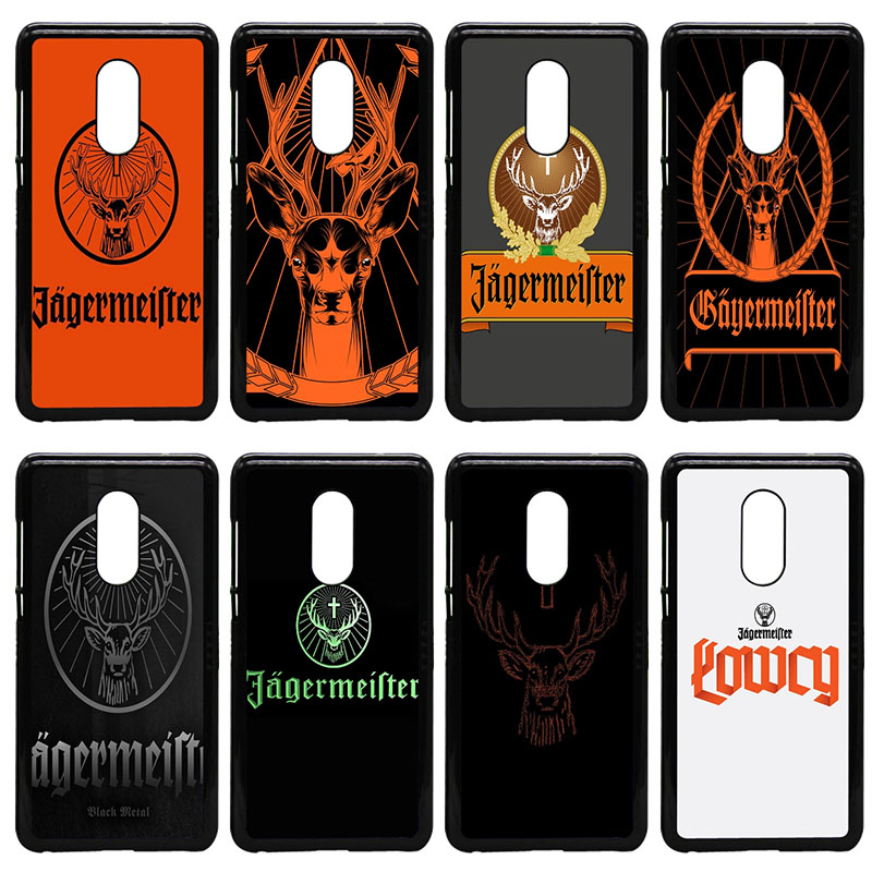 Fashion Jagermeister Logo Deer Head Cell Phone Case Hard PC Cover for Xiaomi Redmi 3X Mi 6 5 5S Plus Note 4X 2 3 3S 4 Pro Prime