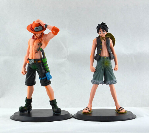 2015 New Japan Anime One Piece The Monkey.D.Luffy And The Portgas D Ace PVC Action Figure Set Toys Gifts image